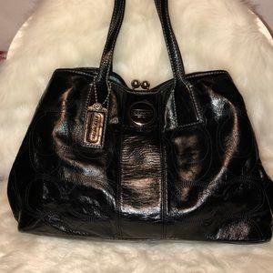 Authentic Coach Shoulder Bag Large Black